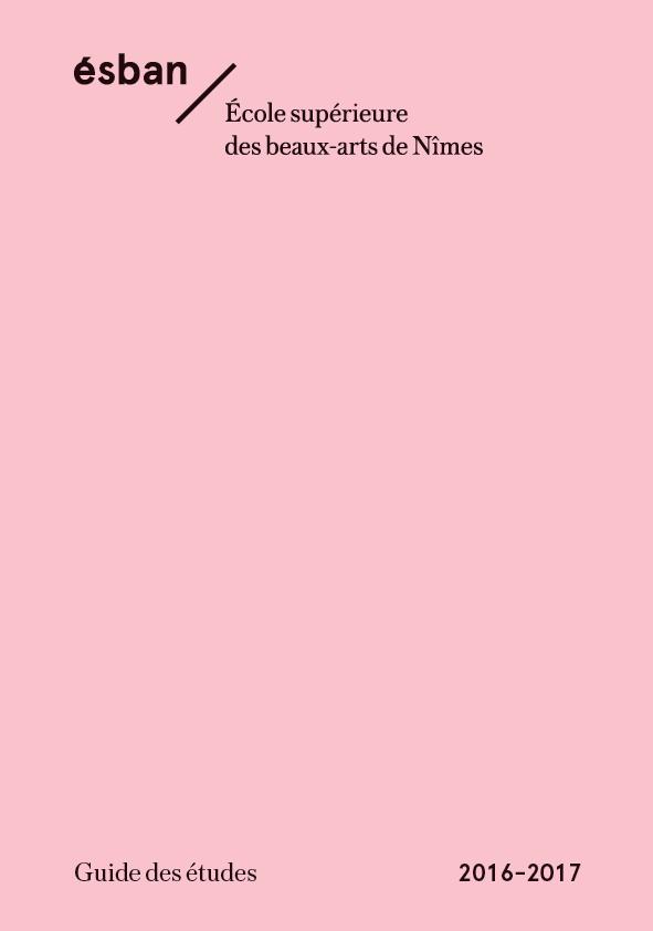 Guide des études couv